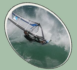 windsurfer in kapstadt